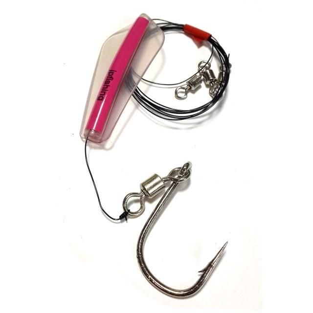 Блесна L18 Tasmanian Jpfishing для тролинга (розовый, крючок с вертлюгом №18, вертлюг тройной