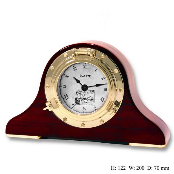 Часы подарочные настольные на деревянной основе
