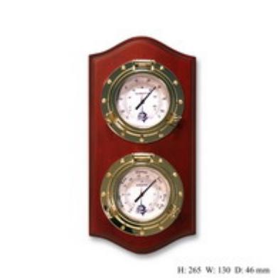 Метеостанция термометр и гигрометер на деревянной основе