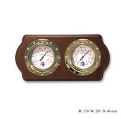 Метеостанция настенная термометр гигрометер на деревянной основе
