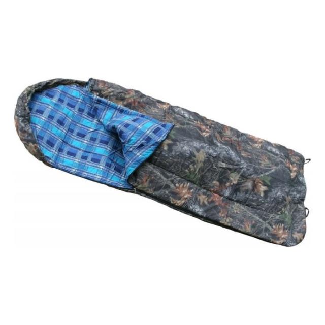 Спальный мешок с подголовником (одеяло, комбинированный, 1,0-2,0 м)