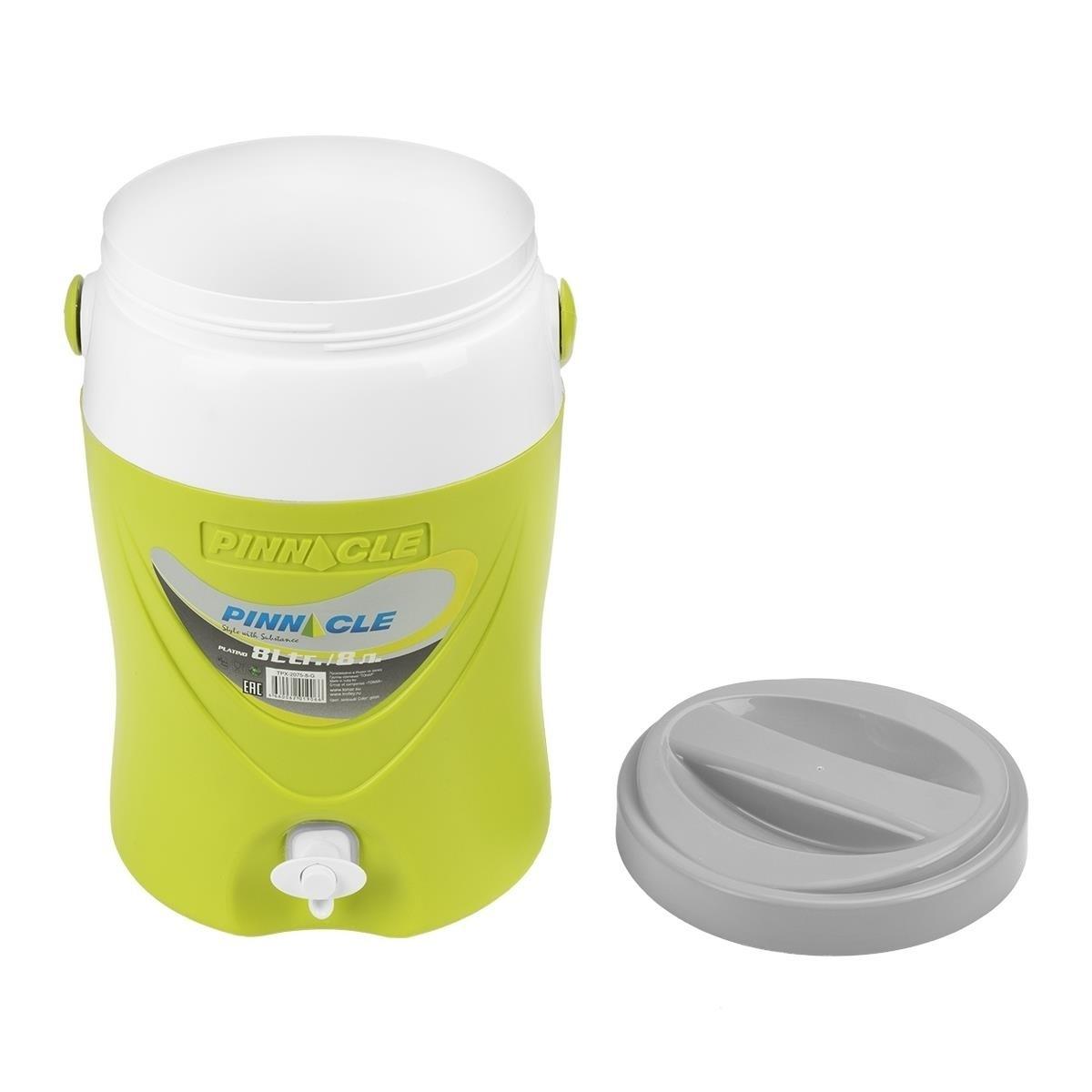 Изотермический контейнер для жидкости зеленый, Platino 8л