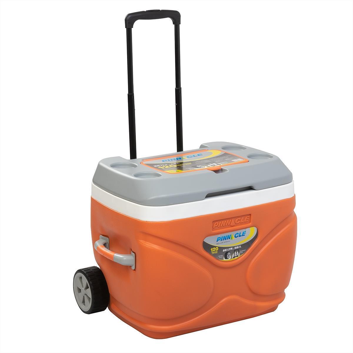 Изотермический контейнер на колесах оранжевый, PRUDENCE 30л