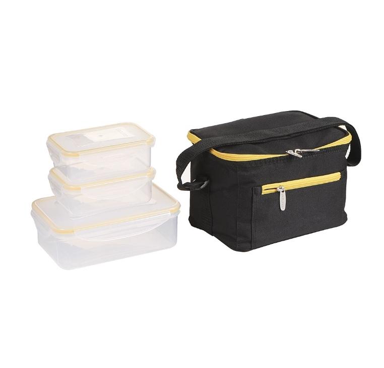 Ланч-сумка черная с контенерами Арктика, 2.5 литра