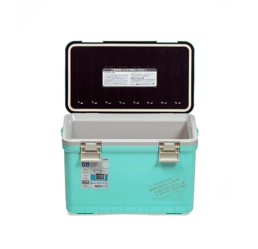 Термобокс SHINWA Holiday Land Cooler 22H, бирюза