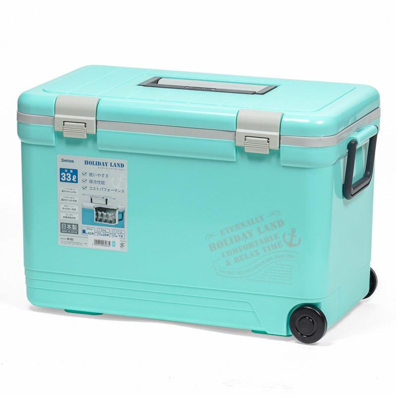 Термобокс SHINWA Holiday Land Cooler 33H, бирюза купить с доставкой