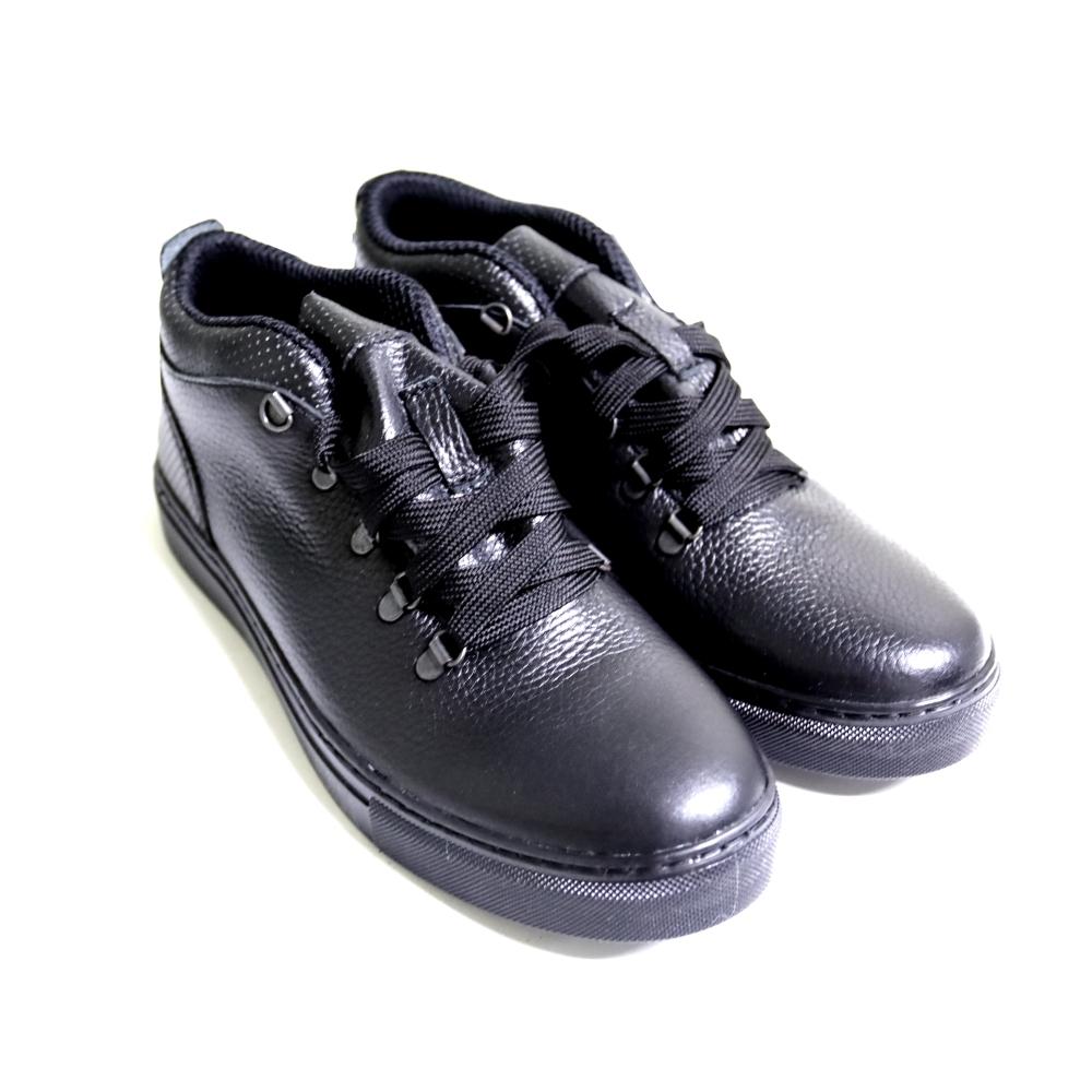 Полуботинки мужские Конкорд черные на черной подошве, 41