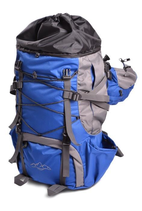 Рюкзак Горный, 50 литров, синий-серый