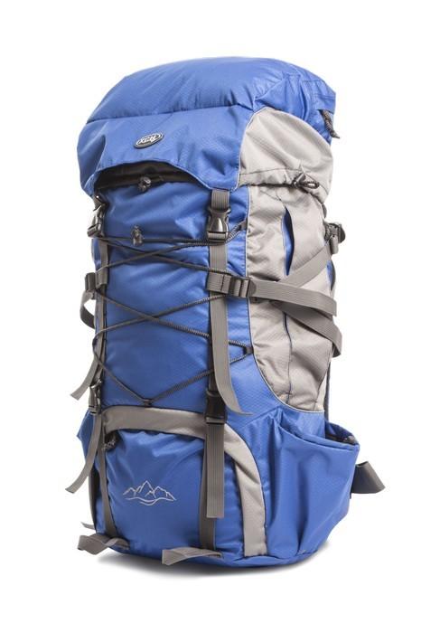 Рюкзак Горный, 50 литров, синий-серый купить с доставкой