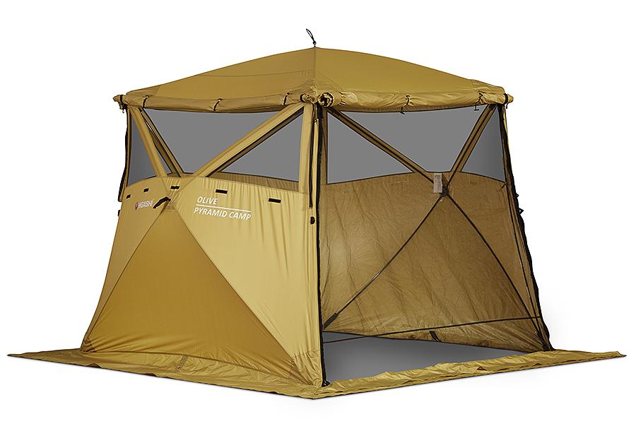 Кухня-шатер HIGASHI Pyramid Camp Olive