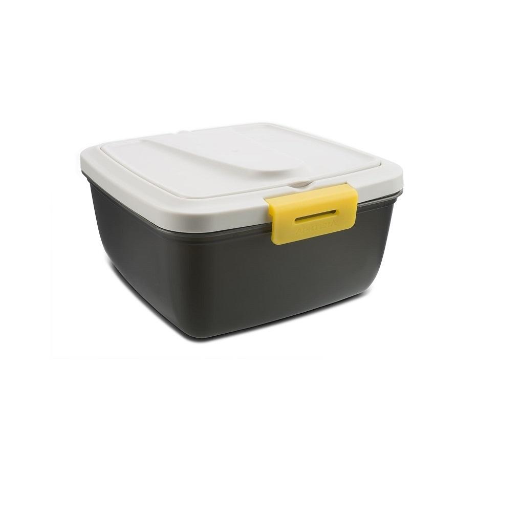 Ланчбокс серый-жёлтый Арктика, 1,6 литра