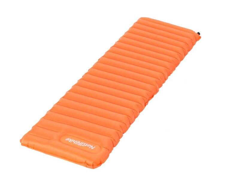 Коврик с подушкой туристический NATUREHIKE FC-12, Sun orange L