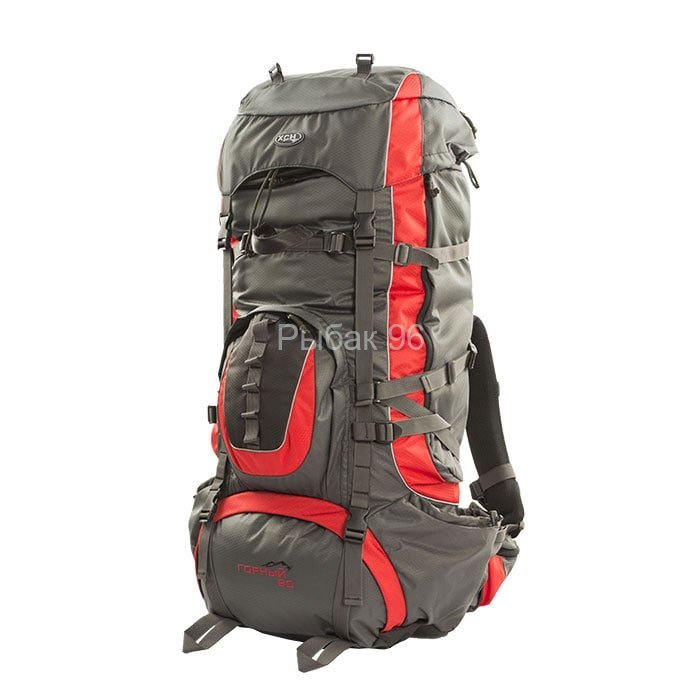 Рюкзак Горный 80 литров  (серый/красный) купить с доставкой