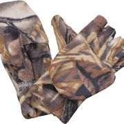 Варежки-перчатки зимние поларфлис (лес), M-L