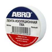 Изолента белая (19 мм х 9,1 м) ABRO