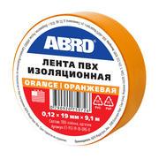 Изолента оранжевая, 19 мм х 9,1 м ABRO