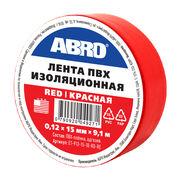 Изолента красная, 15 мм х 9,1 м, ABRO