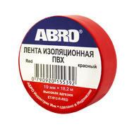 Изолента красная, 19 мм х 18,2 м, ABRO