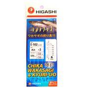 Оснастка самодур на корюшку Higashi E-102 Glow