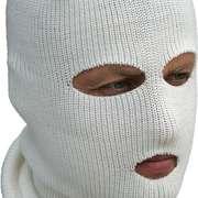 Лыжная шлем-маска Очки, белая