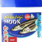 Крючок Wakasagi на корюшку, 10 шт,red, №20, ушко