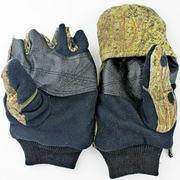 Перчатки-варежки с клапаном, цвет камыш,лес