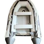 Лодка надувная ПВХ 2,7 метра Фарватер темно-серая надувной пол (Рассрочка)
