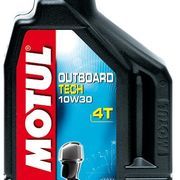 Масло моторное полусинтетическое Motul Outboard Tech 4T 10W40, 2 литра