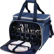 Набор для пикника, тм Арктика, синий с рисунком на 6 персон купить c доставкой