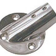 Крепление леерной стойки круглое основание нержавеющее 45° ф22мм