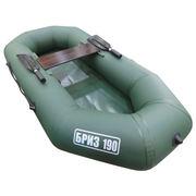 Лодка ПВХ надувная гребная Бриз 190, зеленый, гребки+жесткое сиденье