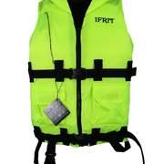Жилет спасательный сертифицированый Ifrit, лайм, до 90кг