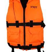 Жилет спасательный сертифицированый Ifrit, оранжевый, до 110кг