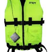 Жилет спасательный сертифицированый Ifrit, лайм, до 110кг