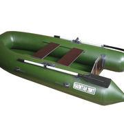 Лодка ПВХ надувная моторная Капитан 260Т (зеленый)