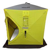 Палатка для зимней рыбалки Helios Куб 1,8х1,8, желтый-серый