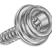 Кнопка тента шуруп (Латунный) с цоколем латунь 9,5 мм
