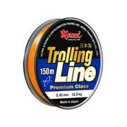 Леска оранжевая Trolling Line 150м, 0,25мм 7кг