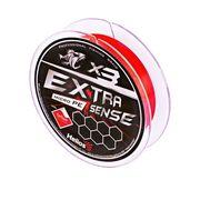 Шнур Helios Extrasense X3 PE Red 92m   0.3/6LB 0.10mm