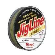 Шнур JigLine Ultra Light 100 м, 0,09 мм, 7,0 кг, хаки