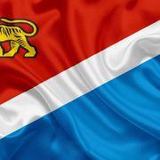 Флаг Приморского края №5 60х90см ПЭ шелк