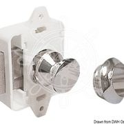 Механизм запирания двери, защелка пластиковая белая 20х77х45мм