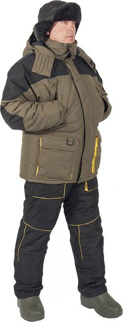 Костюм рыбака зимний до -30 Алей Hi-Pora Helios (серый), 62 рост 182