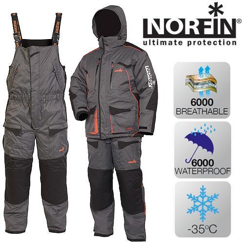 Костюм зимний до -35 Norfin Discovery Gray